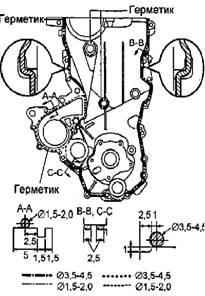 Установка цепи привода ГРМ 1NZ-FE и 2NZ-FE