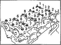 Снятие головки блока цилиндров 1NZ-FE и 2NZ-FE