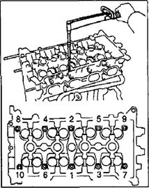 Установка головки блока цилиндров 1ZZ-FE
