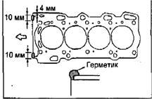 Установка головки блока цилиндров 2ZZ-GE