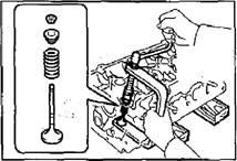 Разборка головки блока цилиндров