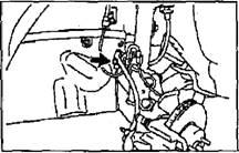 Снятие стойки передней подвески