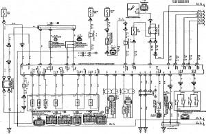 Схема 14.1: Система электронного управления АКПП (хэтчбек, модели с двигателем 2ZZ-GE) (часть 1)