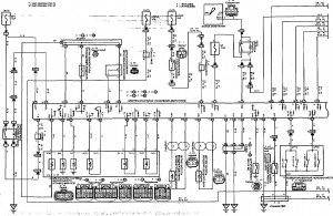 Схема 15.1: Система электронного управления АКПП (седан, универсал, модели с двигателем 2ZZ-GE) (часть 1)