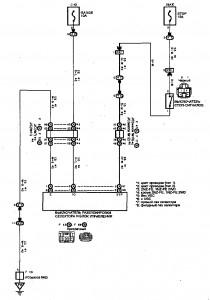 Схема 21.1: Система блокировки переключения (седан и универсал, модели с АКПП)