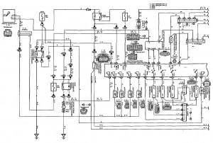 Схема 4.1: Система управления двигателем (хэтчбек, модели с двигателем 1NZ-FE) (часть 1)