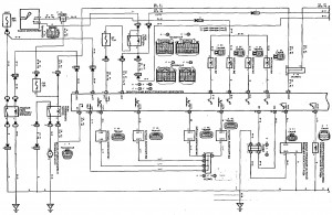 Схема 6.1: Система управления двигателем (седан, универсал, модели с двигателем 2ZZ-GE) (часть 1)