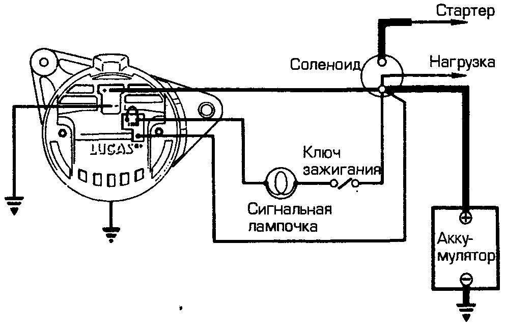 Схема проводов от генератора камаз