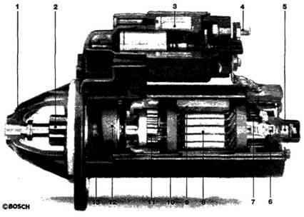 Стартер с постоянными магнитами и понижающей передачей