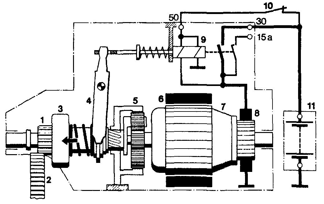 Редукторный стартер схема подключения