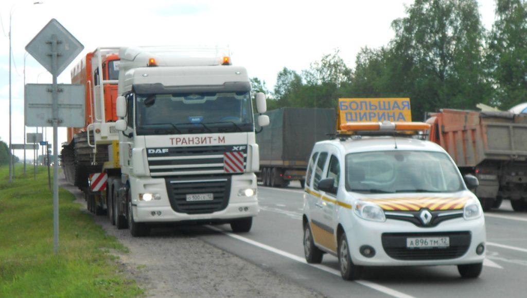 Сопровождение негабаритных грузов фото