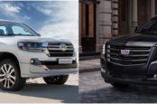 Сравнение Cadillac Escalade и Toyota Land Cruiser