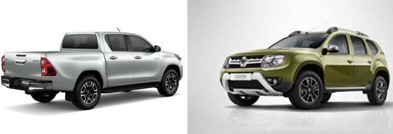 Сравнение Renault Duster и Hilux Surf
