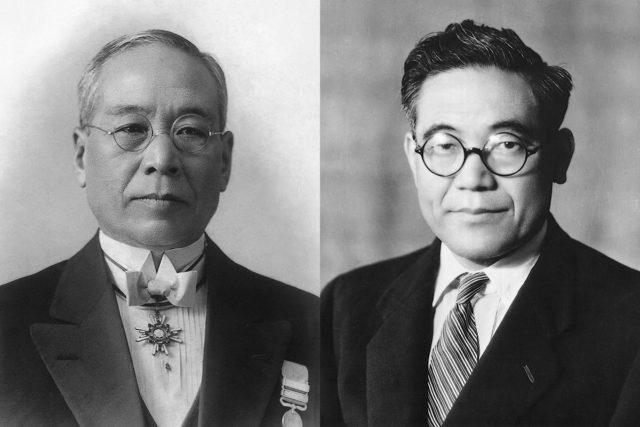 Сакити Тоёда и Киичиро Тойода