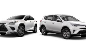 Сравнение автомобилей Rav4 и Lexus nx