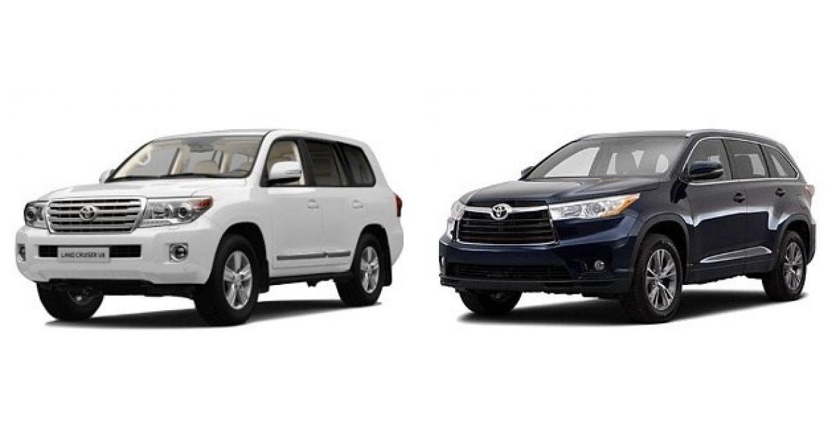 Сравнение автомобилей Тойота Ленд Крузер Прадо и Тойота Хайлендер
