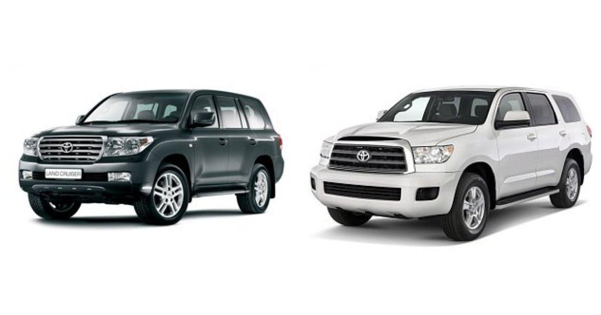 Сравнение автомобилей Тойота Ленд Крузер и Тойота Секвойя