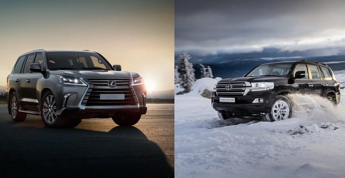 Сравнение автомобилей Тойота Ленд Крузер 200 и Лексус 570